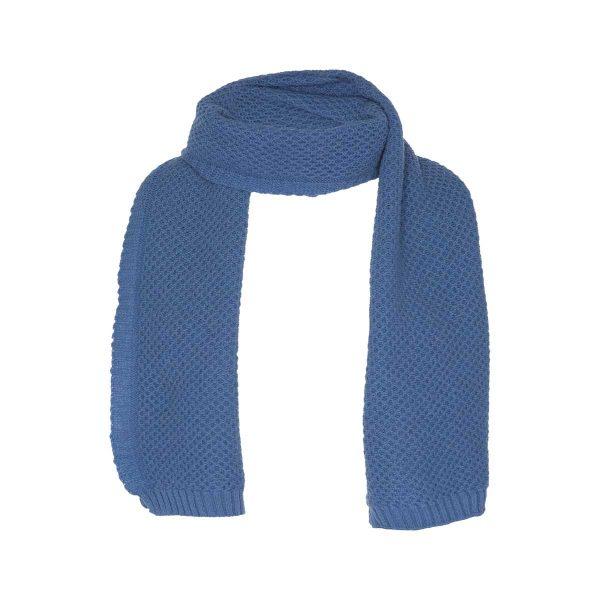 Bufanda Cabañera Lana Merino Azul