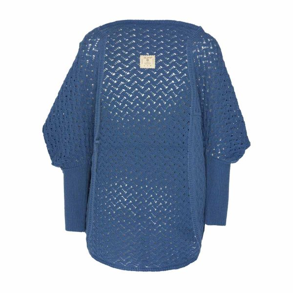 Cardigan Dehesa Lana Merino Azul