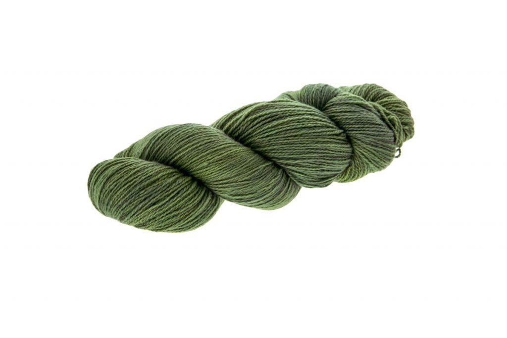 Lana sorrosal verde pasto freso