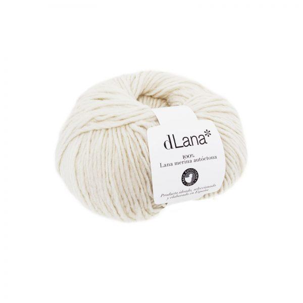 Ovillo lana merina autóctona certificada Blanco