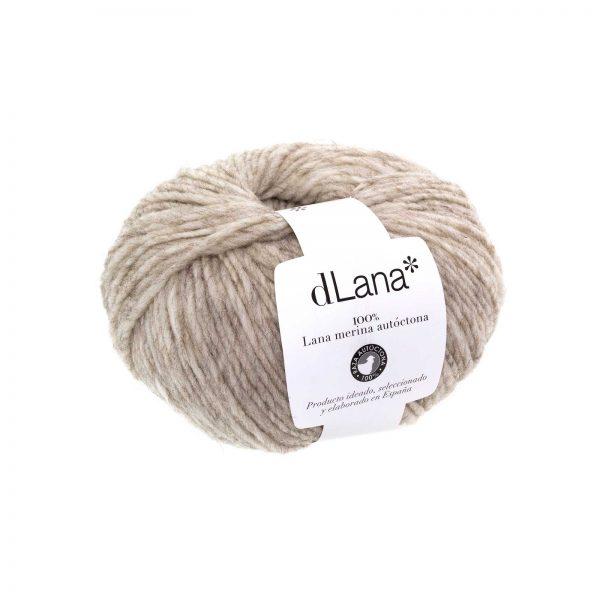 Ovillo lana merina autóctona certificada Gris Claro