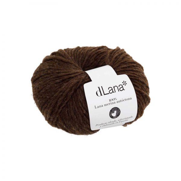 Ovillo lana merina autóctona certificada Marrón