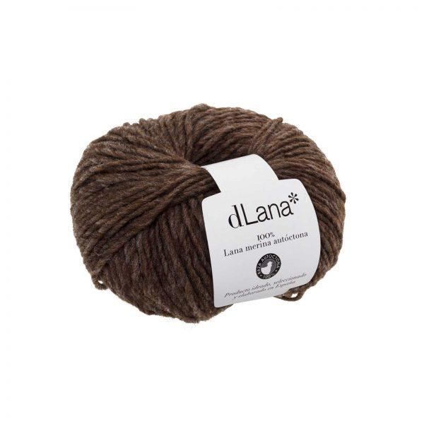 Ovillo lana merina autóctona certificada Marrón Claro